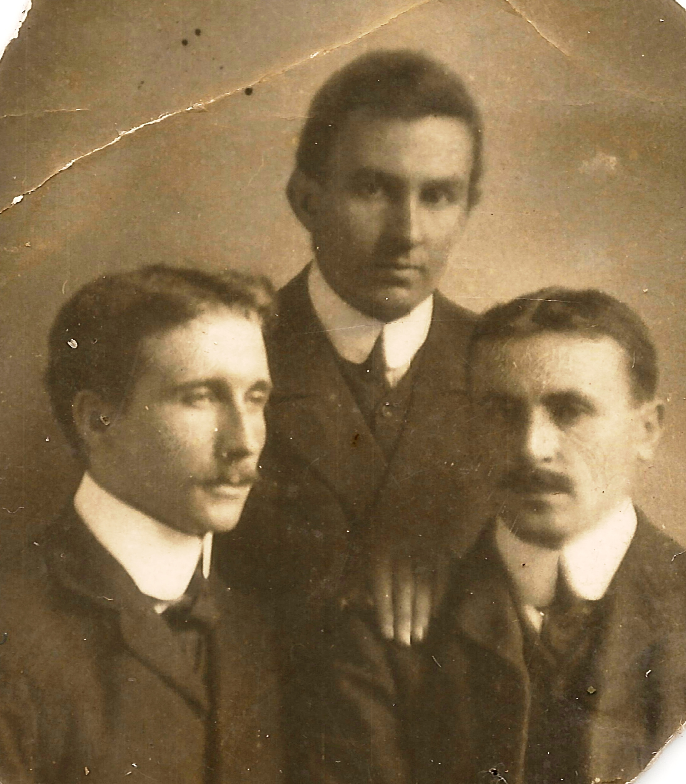 Charles John Rowland (left) and his brothers